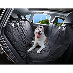 Voiture Couverture pour chien, HOOMIL étanche couverture Protection Chien Voiture Coffre–147x 137cm