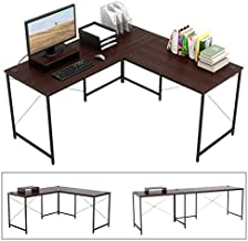 Bestier L-shaped computer desk, 95.5