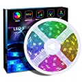 Bluetooth LED Strip Lights,Color Changing Rope Light with Remote Controller,2M/6.56ft 12V Flexible LED Light Strips-Room Decor,SMD 5050 RGB,Suitable for 40-60in HDTV/PC Monitor Backlight