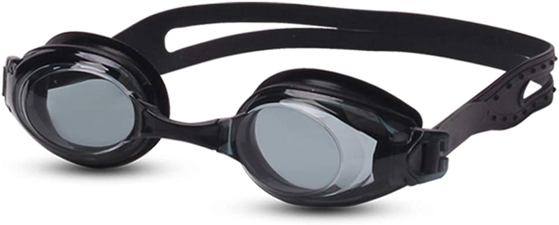 XJUNYYJ Swimming Goggles Waterproof Leakproof Adult Swimming Glasses Hd AntiFog Lens Replaceable Bridge of the Nose Clear Field of Vision Black   17cm