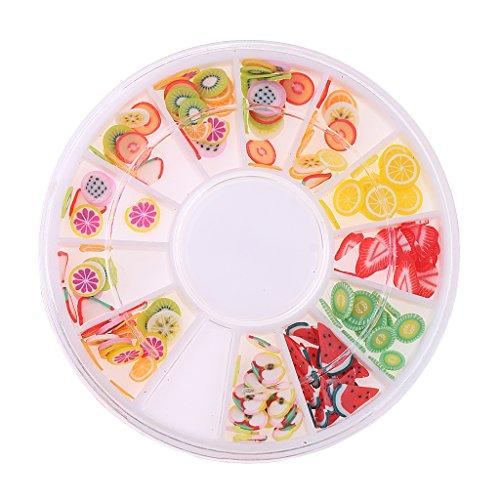Rad 12 Farben Für Nail Art Dekoration Charms 3D Dekoration Flatback Perlen
