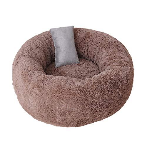 Roofeel pluizige bedden voor hond met kussens huisdier ligstoel kussen voor kleine middelgrote honden kat winter hond kennel puppy mat huisdier bed, S, BRON