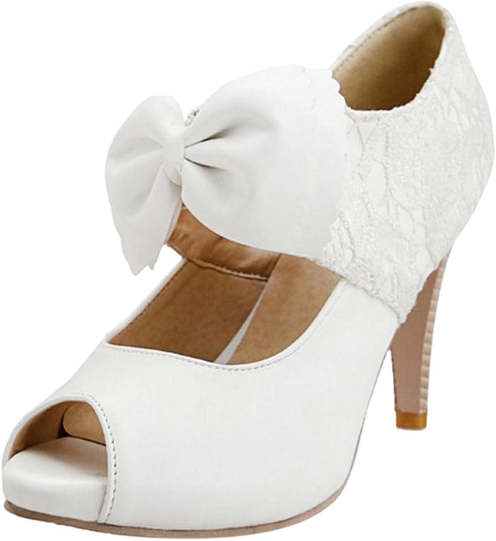 FANIMILA Women Peep Toe Pumps High Heel