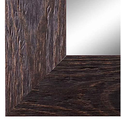 Spiegel Wandspiegel Badspiegel Flurspiegel Garderobenspiegel - Über 200 Größen - Venedig Dunkel Braun 6,8 - Außenmaß des Spiegels 40 x 60 - Wunschmaße auf Anfrage - Antik, Barock