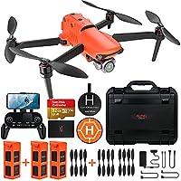 ★ 【CE BUNDLE COMPREND】: Cet ensemble comprend 1 X EVO II Pro 6K Drone, 3 X Batterie, 6 Paires d'hélices (2 paires pré-installées sur le drone, 4 paires dans l'emballage), 1 Set X Télécommande, 1 X Landing Pad, 1 carte SD de 32 Go, 1 boîtier en plasti...