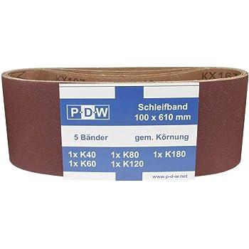 120x Gewebe Schleifb/änder gemischt 13 x 451 mm Korund Bandschleifer