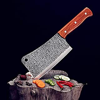 meat cleaver, Heavy-duty bone cutter, stainless steel bone cutter, saving Wooden Handle Chinese Knife, multi-purpose household kitchen