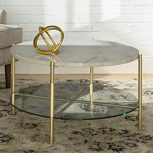Modern Round Coffee Accent Table