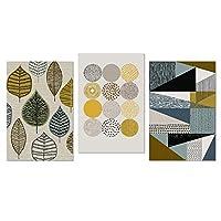 """抽象壁アート幾何学的なキャンバス絵画北欧のポスターとプリント壁の写真家の装飾-50x70cm / 19.7 """"x 27.6"""" x3フレームなし"""