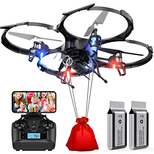 Drones with Camera-DBPOWER U818A Discovery FPV 720P HD WiFi Camera Drone,RC Quadcopters UAV for...