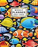 2021-2022 Weekly Planner: Cute Marine Adventure Two Year Calendar, Diary, Agenda | Pretty Sea Fish 24 Month Organizer with Vision Boards, Notes, To Do Lists, Holidays