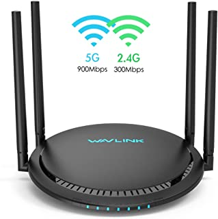 WiFi Router,Wavlink Remote AC1200 Smart WiFi Router with Touchlink Function,Computer Router High Speed 2.4G+5GHz Dual Band Gigabit Wireless Internet Router for Online Game&Home