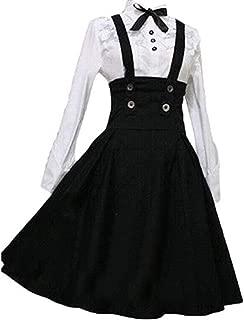 Loli Miss Women Girls Classic Lolita Dress High Waist Skirt Long Sleeve Blouse Halloween Cosplay Costumes