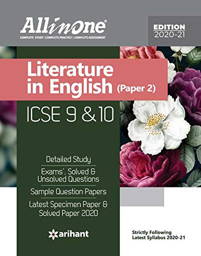 All in One ICSE Literature In English Class 9 and 10 Paper 1 2020-21