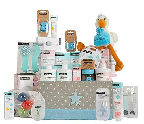 Suavinex Canastilla Baby Shower para Bebé y Mamá (Azul)