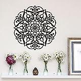 Adesivo da parete fiore mandala stile bohemien decalcomania in vinile modello mandala adesivo da parete decorazioni per la casa murale creativo A4 42x43 cm
