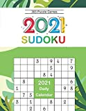 2021 Sudoku Daily Calendar: Sudoku Puzzles 9x9 Of The Year 2021 For Adults, 365 Puzzles, 5 Levels of Difficulty (Easy to Extreme)