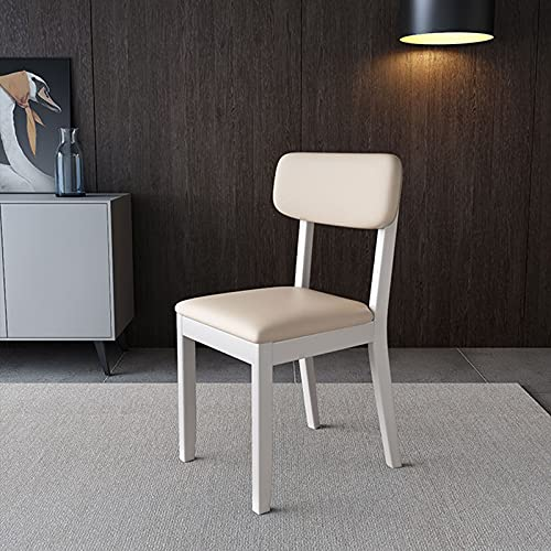 PZJ-Dining Chair with Wood Legs High Back Cushion Lounge Chair for Dining Room Living Room Restaurant Office Furniture,F