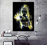 YuFeng Art Inn Modern Wall Poster Art Print Oil Painting on Canvas Home Decor Wall Decoration Canvas Art 1 Piece Soul of Super Saiyan Vegeta Abstract Art HD Cartoon Wall Picture Dragon Ball Super Anime Poster Canvas Painting Wall Art (Unframed-No Framed,16x20inch)