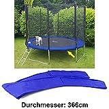 Sunflower 38315 Sicherheits Schutz Rand Abdeckung für Trampolin Sprungfedern 366 CM Blau