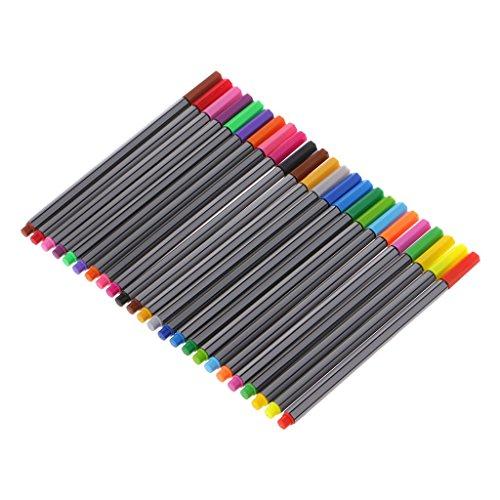U/K Creativo, 0,4 mm, 24 colores, punta de aguja, tinta a base de agua, juego de pintura, muy práctico y popular