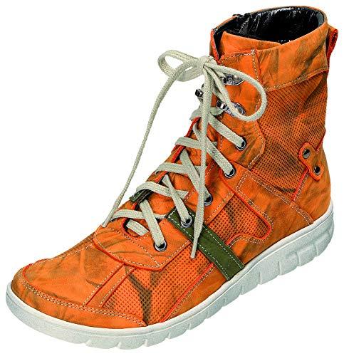 MICCOS Shoes Stiefel D.Schnürstfl in orange, Größe 39.0,