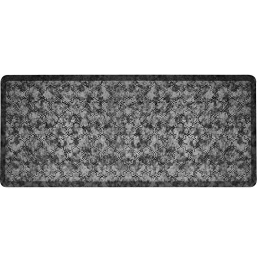 HEBE Oversized Kitchen Mat Cushioned Anti Fatigue Floor Mat Waterproof Non Slip Kitchen Rug Ergonomic Floor Pad Comfort Standing Mat Runner for Office,Sink,Laundry,20'x48',Silver Grey