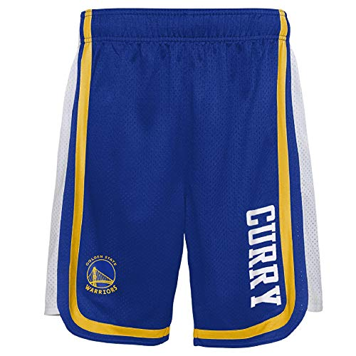 OUTTER STUFF - Pantalones cortos de la NBA Stephen Curry Golden State Warriors Hooper Ball azul para hombre, multicolor, extra-large