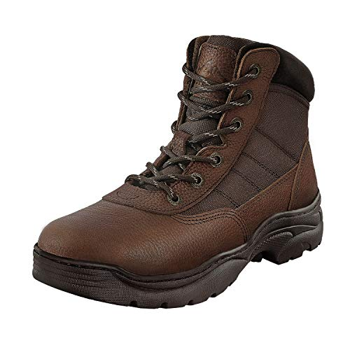 NORTIV 8 Men's Safety Steel Toe Work Boots Breathable Ankle Industrial Construction Boots Brown Litchi Size 7 M US Contractor-st