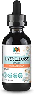 Maui Herbs Liver Cleanse Tincture Liquid Extract 2 fl oz Herbal Formula (Milk Thistle, Chanca Piedra, Turmeric, Dandelion,...