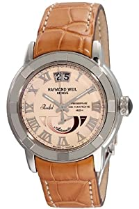 Raymond Weil Men's 2843-STC-00808 Parsifal Automatic Power Reserve Beige Dial Watch image