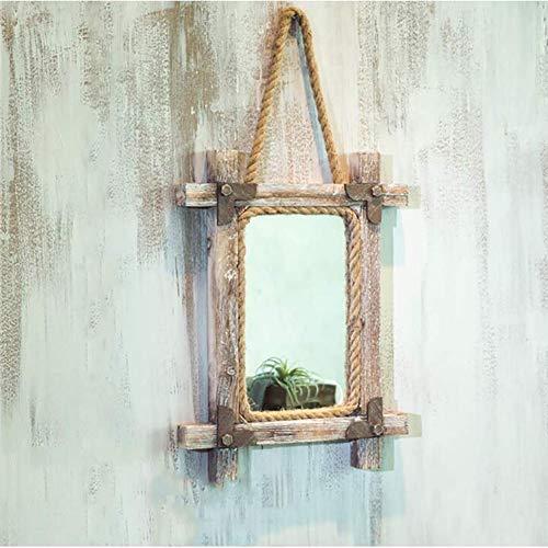 Industrie Wind String Spiegel Art Deco Spiegel Wandbehang, Wandbehang Handgefertiges Wanddekoration Anhänger Cafe Shop Kreative Wandbehang,Retro,86 * 42cm
