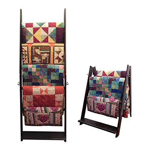 Affordable The LadderRack 2-in-1 Quilt Display Rack (5 Rung/24 Model/Weathered Black)