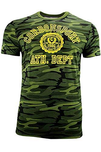 CORDON SPORT BERLIN Herren T-Shirt mit Print OLE gelb grün (S, grün/camouflage)