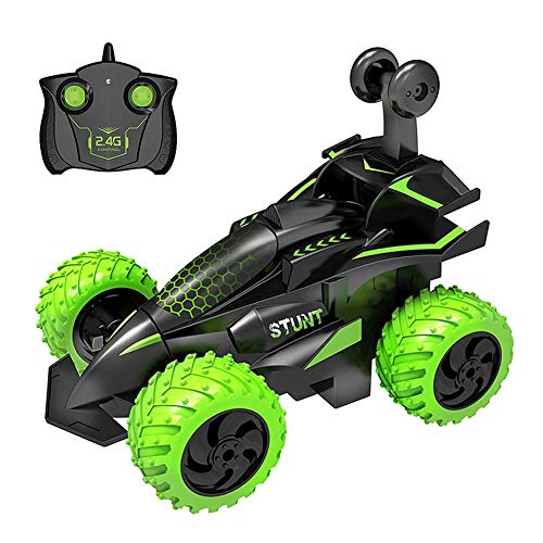 El juguete favorito del bebé, gran regalo para los Truco automóvil 2.4GHz 3D Rotating Drift Stunt Stealbing, caminar en posición vertical a 90 °, deformación Coche Flip Kids Electric Boy Toys para niñ
