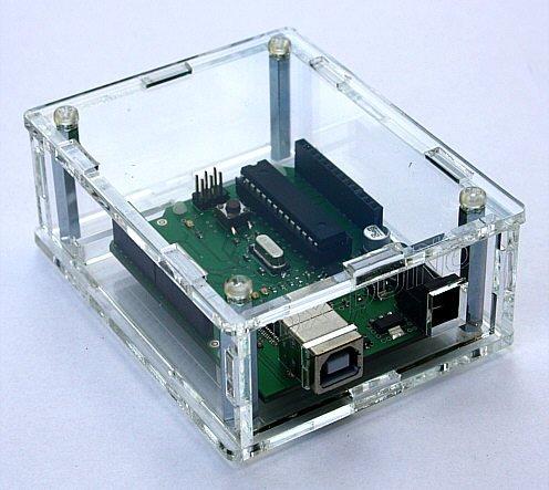 Gehäuse Box für Arduino Entwicklungsboard Plexiglas Klar, super Design, Made in Germany