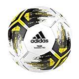 adidas TEAM TrainingPr Soccer ball, Hombre, top:white/solar yellow/black/iron met. bottom:silver met., 5
