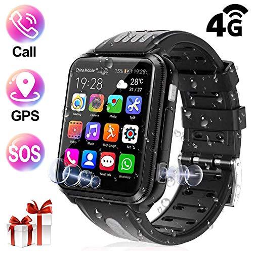 Smartwatch Kinder, GPS Uhr 1.54 Zoll LCD Unterstützt 4G Wasserdicht mit 2 Kamera, Videoanruf, Schulmodus, Voice Chat, Remote-Fotografie, GEO-Zaun für Jungen Mädchen Geschenke,Backa,16G