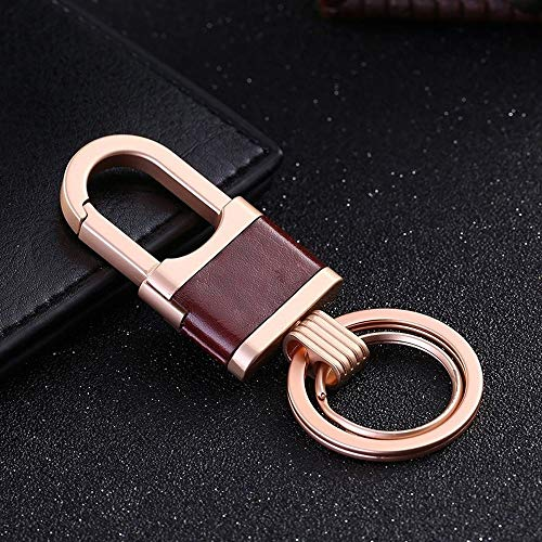 Auto-onderdelen Key Chain Sleutelhangers Holder Ring Car tas hanger Eenvoudige Bedrijfs Classic Key Ring for mannen Women Vintage Keyfob (Color : Gold, Size : Free)