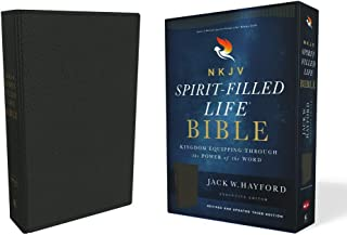 NKJV, Spirit-Filled Life Bible, Third Edition, Genuine Leather, Black, Red Letter Edition, Comfort Print: Kingdom Equipping Through the Power of the Word