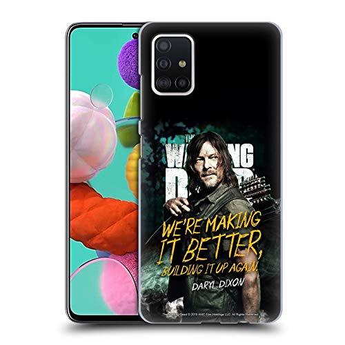 Head Case Designs Licenciado Oficialmente AMC The Walking Dead Daryl Temporada 9 Quotes Carcasa rígida Compatible con Samsung Galaxy A51 (2019)