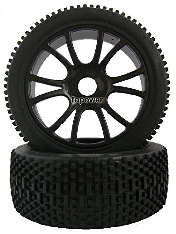 RC 4pcs Sponge Liner Tyre Tires & Wheel Rim Fit HSP 1:8 Off-Road Buggy 84B-801