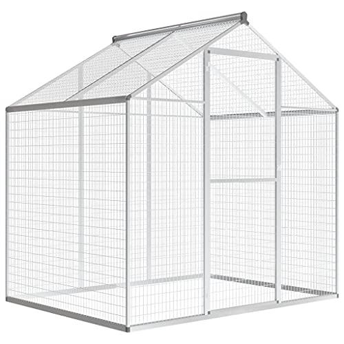 LINWXONGQP Dimensioni Generali: 178 x 122 x 194 cm (L x P x A) Voliera da Giardino in Alluminio 178x122x194 cm Animali Domestici - Articoli