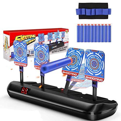 Objetivo digital eléctrico compatible con pistolas Nerf, objetivo de disparo eléctrico con...