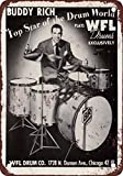 1954Buddy Rich für WFL Drums, Vintage, Reproduktion, Metall, 7x 10cm