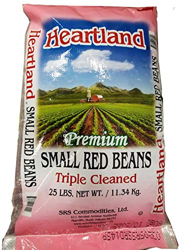 Heartland Red Beans, Premium Quality, Grown in USA Triple Cleaned, 25 lbs