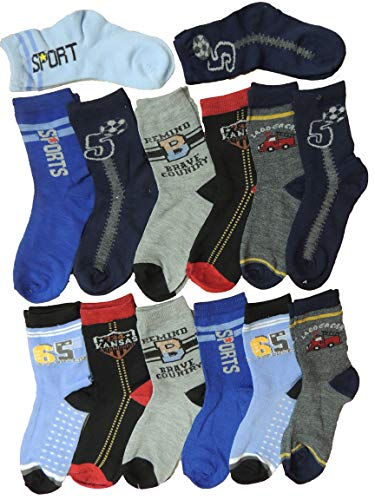 Unbekannt 10er Pack tolle Jungen Socken mit Motiven Größe 30-39 (30-34)