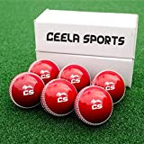CEELA SPORTS INCREDIBALL Cricket Practice Balls RED Pack of 6