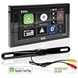BOSS Audio Systems BCPA9685RC Apple CarPlay Android Auto Car Multimedia Player With Rearview Camera - Double-Din, 6.75 Inch LCD Touchscreen, Bluetooth, MP3 Player, USB Port, AM/FM Car Radio