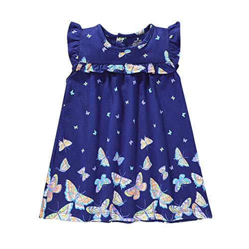 YWLINK Vestido de Princesa con Volantes y Volantes con Manga voladora y Dulce de Verano para niñas Tutu Vestido de Princesa Vestido de Flores para niñosElegante Y Dulce Adecuado 6-23Meses